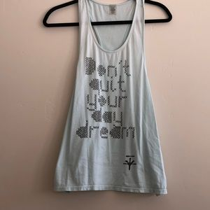 Soybu Racerback Tank Dont Quit Your Day Dream Blue